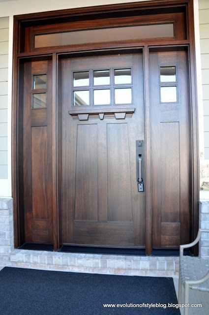 Beautiful Craftsman Style Front Door Home Entry In