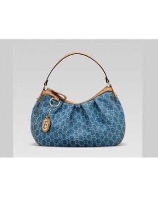 e9b9144ac Gucci Sukey Medium Hobo Bag Denim Gg Fabric | Tote Bags | Gucci hobo ...
