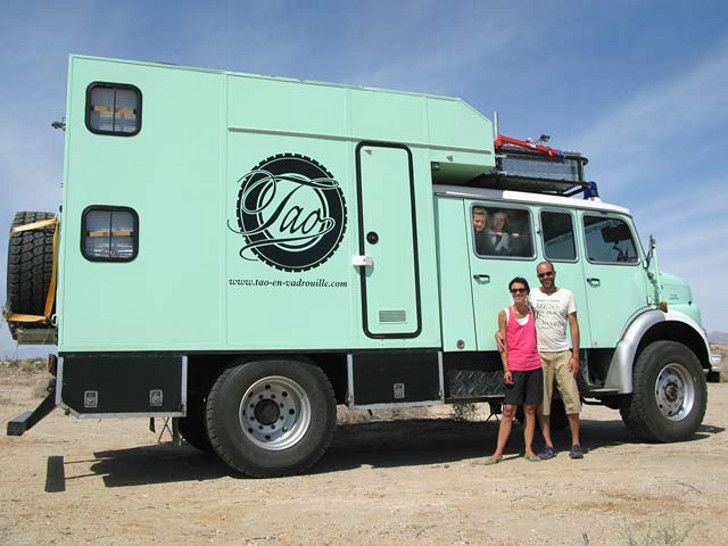 Family tours america in a mercedes fire truck overland rv for Mercedes benz rv camper