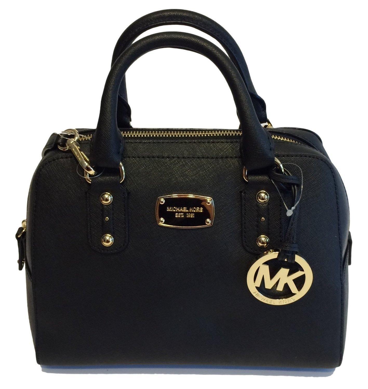 Michael Kors Hamilton Specchio North South Large Black Silver Saffiano Leather Tote 44% off retail