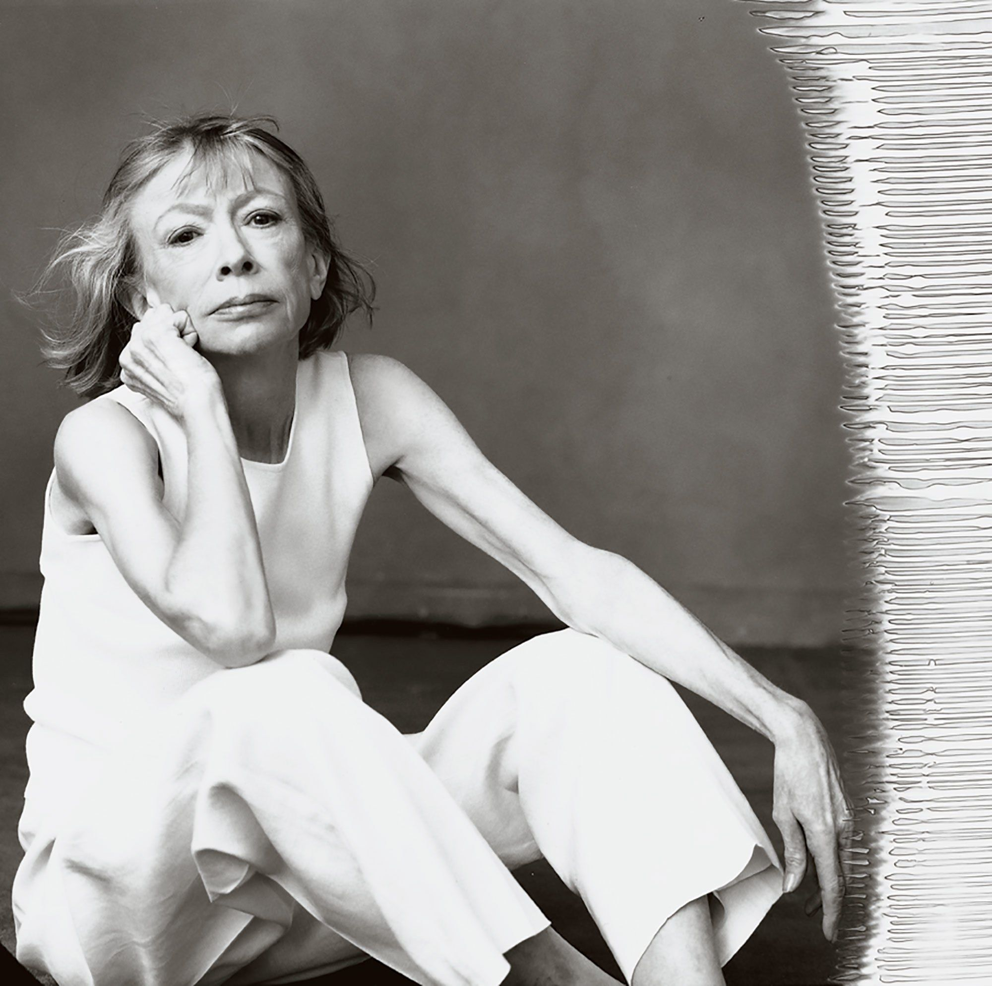 "the producer of netflix s ""the center will not hold"" annabelle  joan didion shot by annie leibovitz for us vogue 2005"