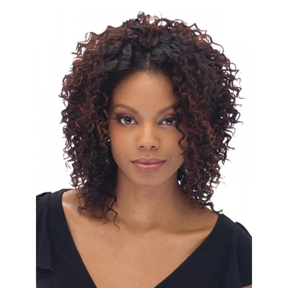 images of nice styles for short curly weavon black short
