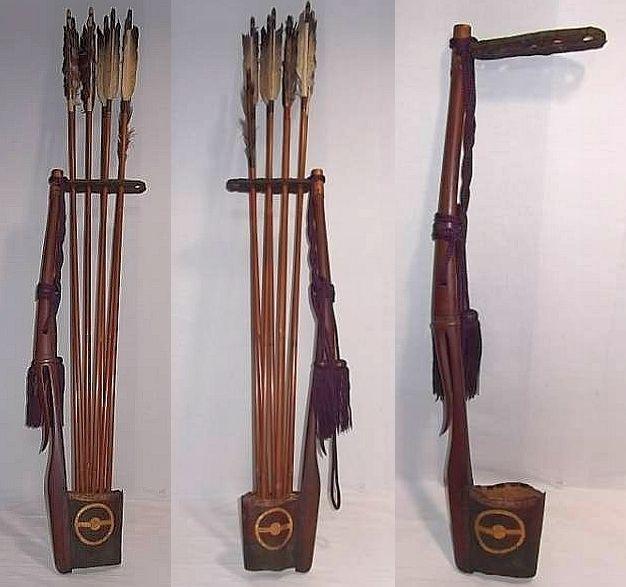 Antique Edo Period Samurai Shiko Quiver