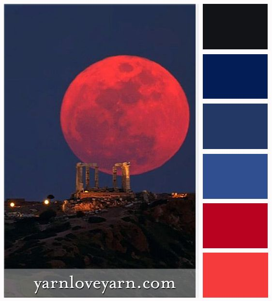 Blood Moon Palette | Color palette challenge, Red colour ...