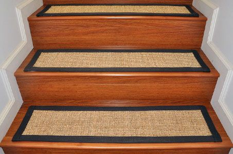 Consider to try braided rug stair treads | Stair treads, Stair ...