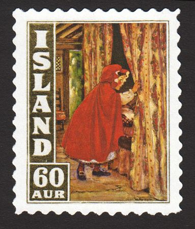 Iceland's 60-aur Red Riding Hood issue, with art by Jessie Willcox Smith.