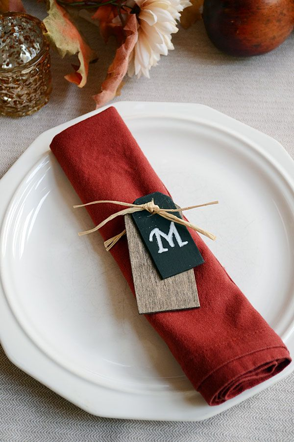 Personalize your thanksgiving table do it yourself today this craft is the perfect idea for your autumn table monogram napkin rings storypiece solutioingenieria Choice Image
