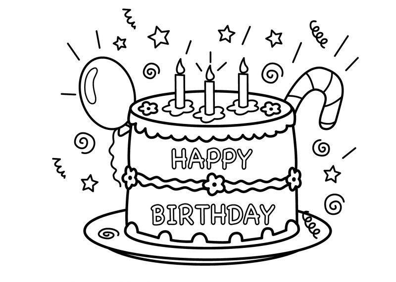Kostenlose Geburtstagstorten Bilder Zum Ausmalen Kerze