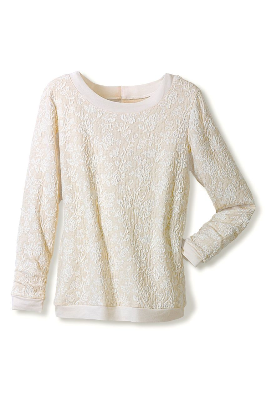 Floral Jacquard - Sweatshirt