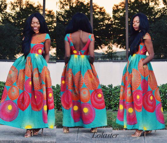 brand new 33e7c 33645 Abbigliamento africano, Ankara Dress | Vestito stampato ...