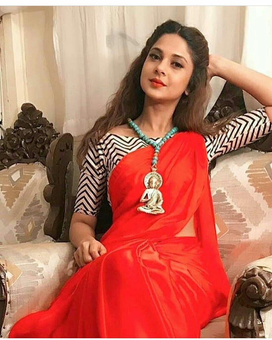 Jennifer Winget Designer Saree Blouse Patterns Saree Look Saree Blouse Designs