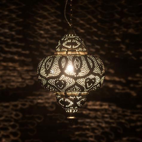 Sultan pierced metal hanging lamp