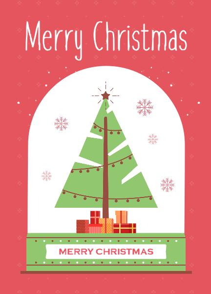 Merry Christmas Card Christmas Tree Cards Merry Christmas Card Cards