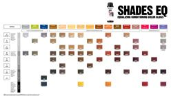 Shades Color Chart Hair Color Chart Color Chart Hair Color