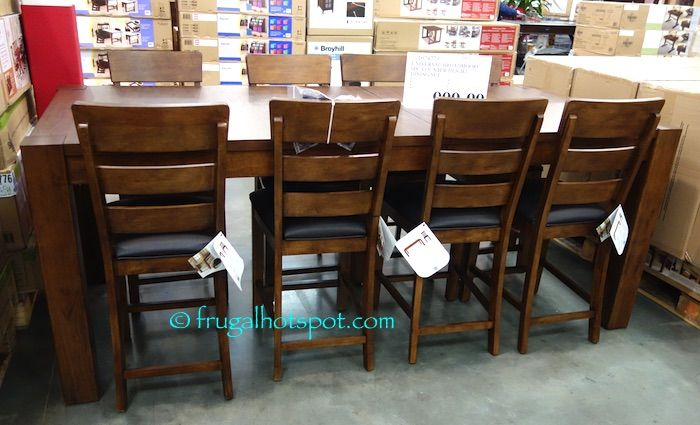 universal broadmoore 9-piece counter height dining set. #costco
