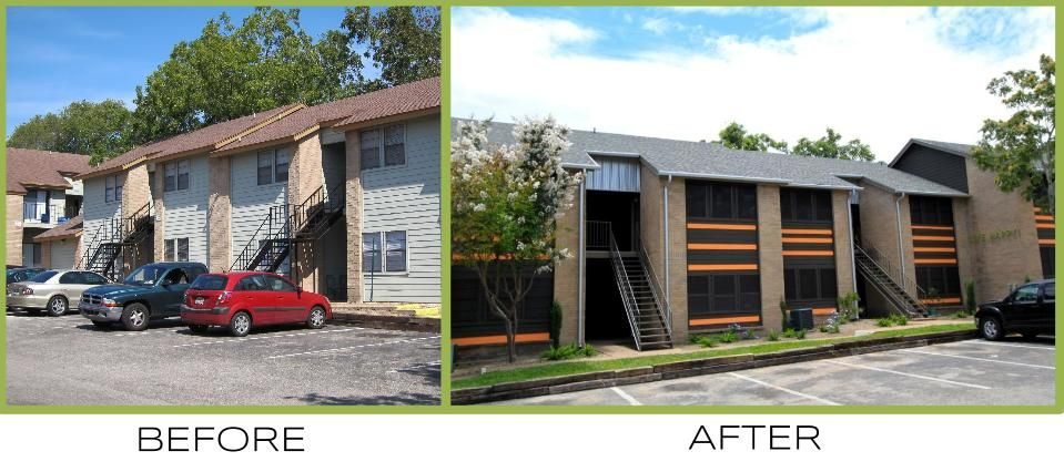 before and after at The Enclave Apartments, Austin TX ...