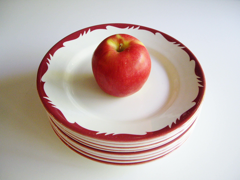 Vintage Dinner Plates Restaurantware Erica JE Heath Deco 105 Vitrified & Vintage Dinner Plates Restaurantware Erica JE Heath Deco 105 ...