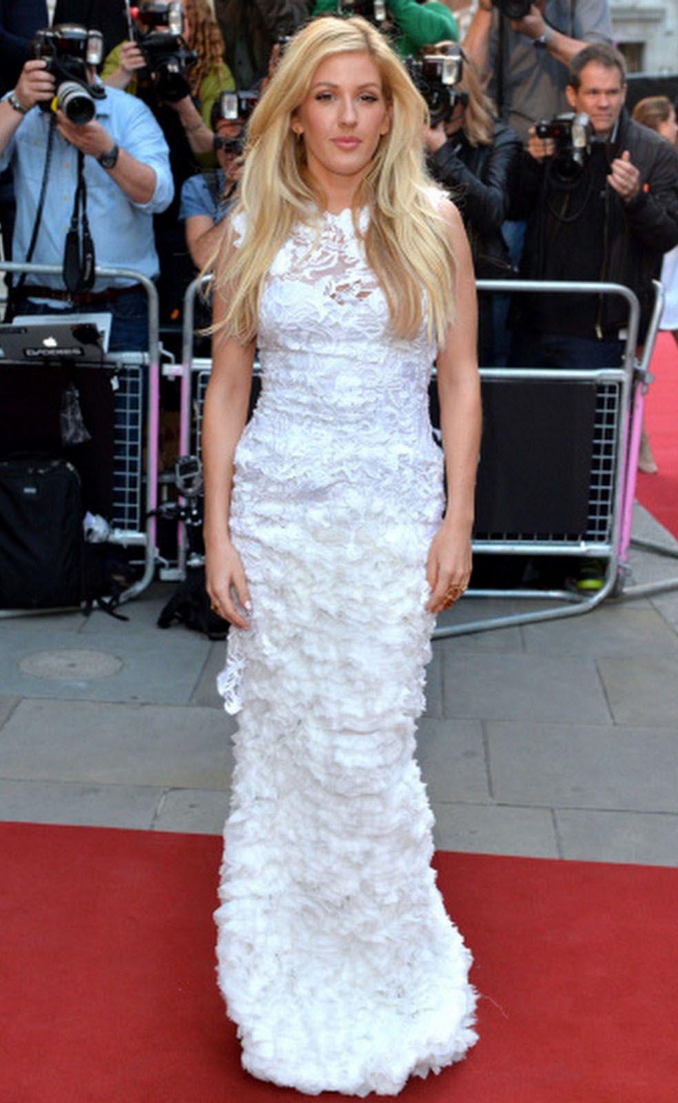 Ellie Goulding wore an Ermanno Scervino spring/summer 2014