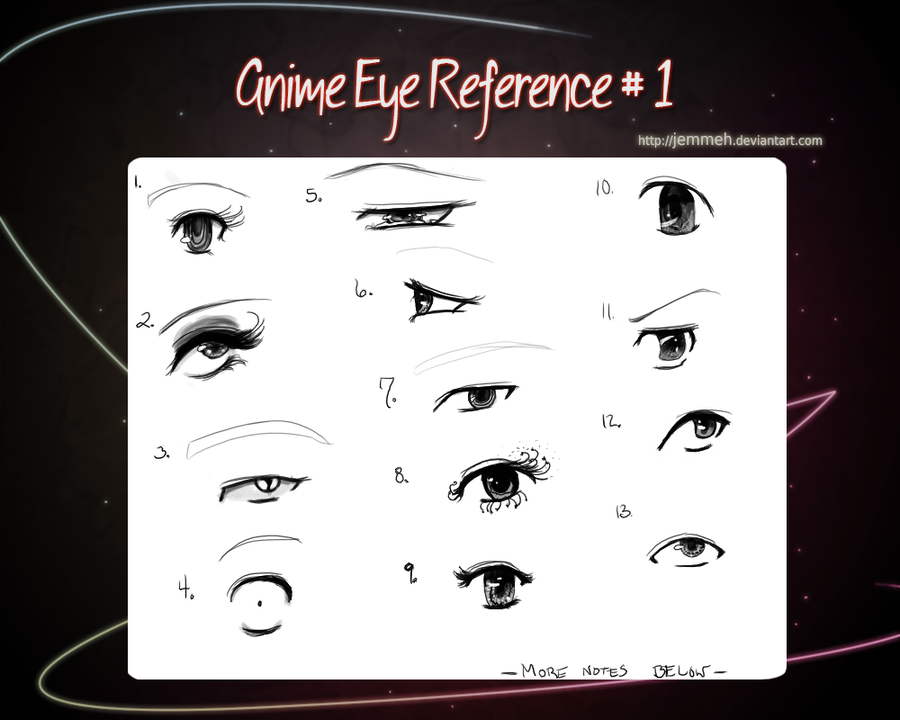 how to draw anime eyes side