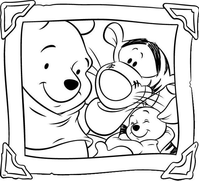 Baby Winnie The Pooh Coloring Pages Free