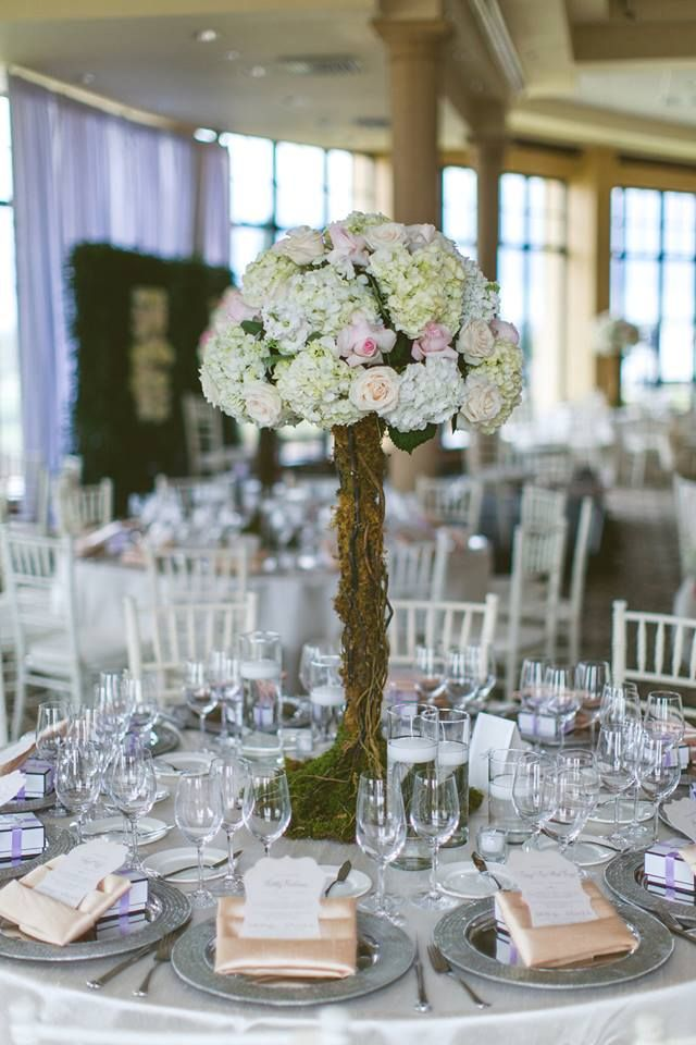 White Floral Tree Centerpiece