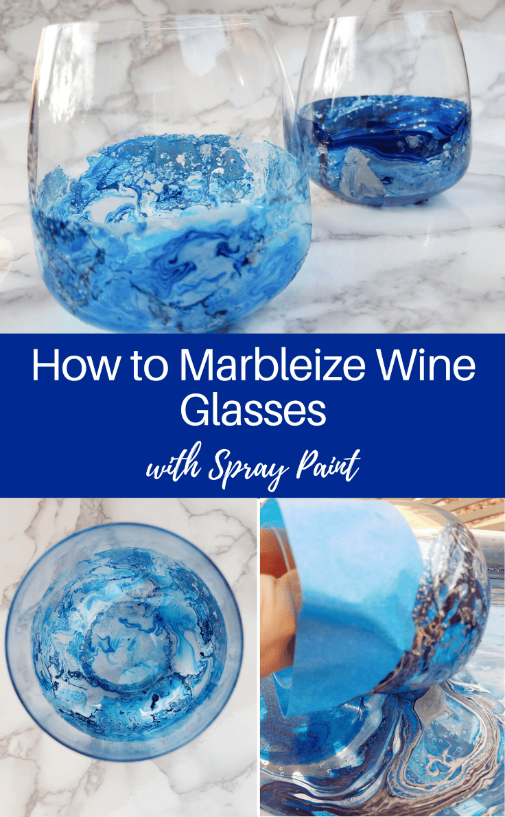 Photo of DIY Marbleized Wine Glasses with Spray Paint: 10 Minute Craft