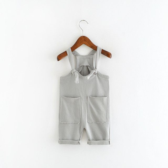 Soft Cotton Pocketed Overalls
