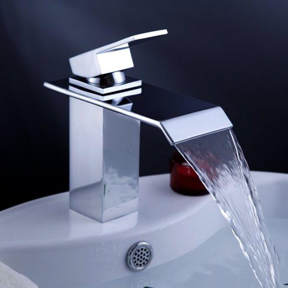 Schickes Wasserfall Armaturen Für Bad Waschbecken Und
