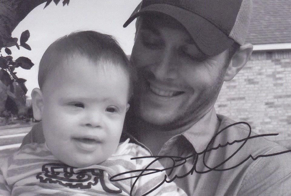 Jensen Ackles and his nephew. -- This is the most adorable picture I've ever seen in my life. :D