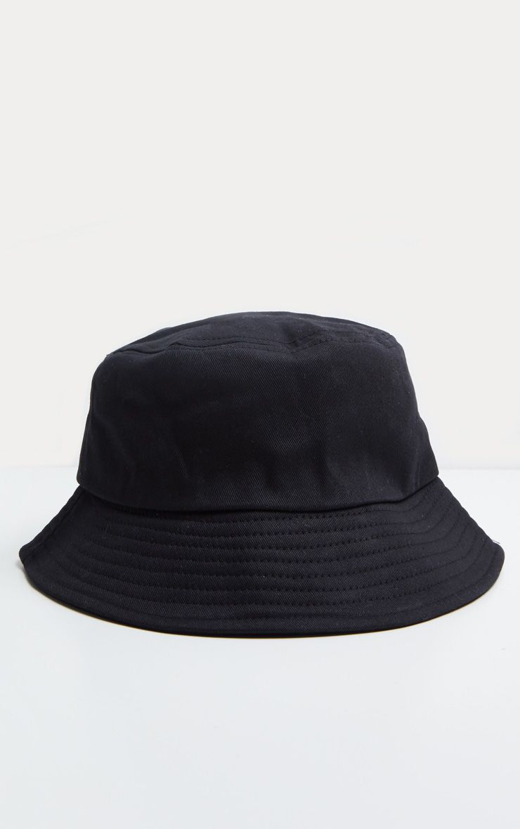 266d211fe Plain Black Bucket Hat | Accessories | PrettyLittleThing ...