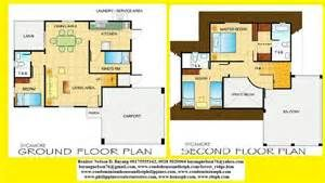 Delightful Simple Two Storey House Design 7 Contemporary House Floor Plans Double Storey House Plans Contemporary House Floor Plans House Plans