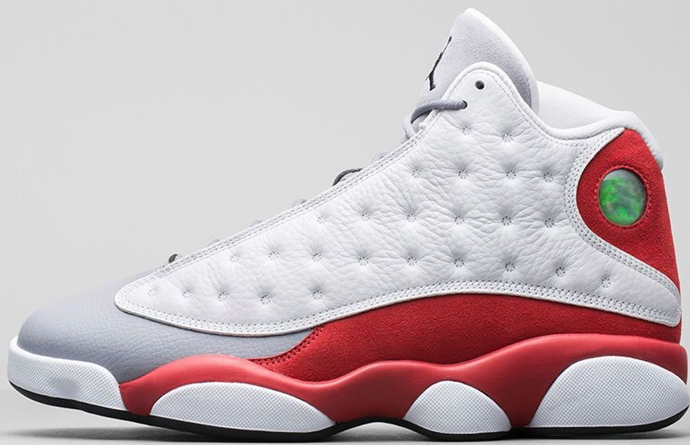 air jordan 13 low white\/metallic silver-varsity red-black dress
