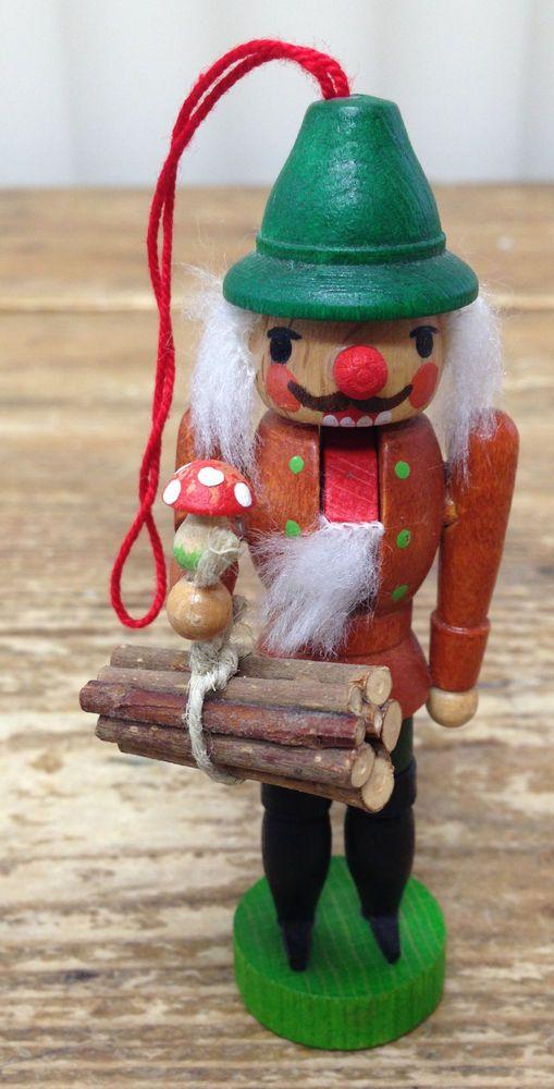 Ulbricht Nutcracker Miniature Dollhouse Christmas Ornament Wood Bundle Mushroom