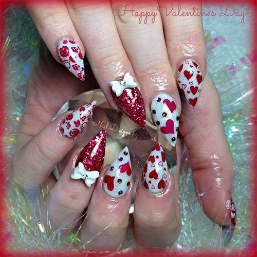 Valentines Acrylic Nails Best Nail Designs 2018