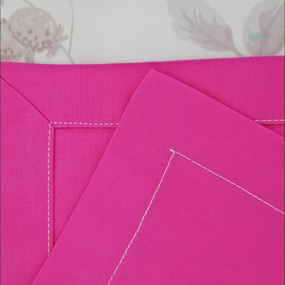 SEWING MITERED CORNERS – kenar