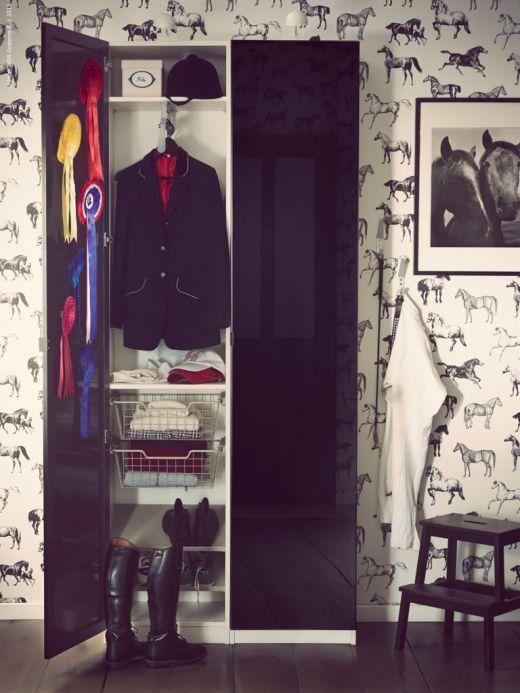 black and white horse wallpaper for her room   Decor   Pinterest ...