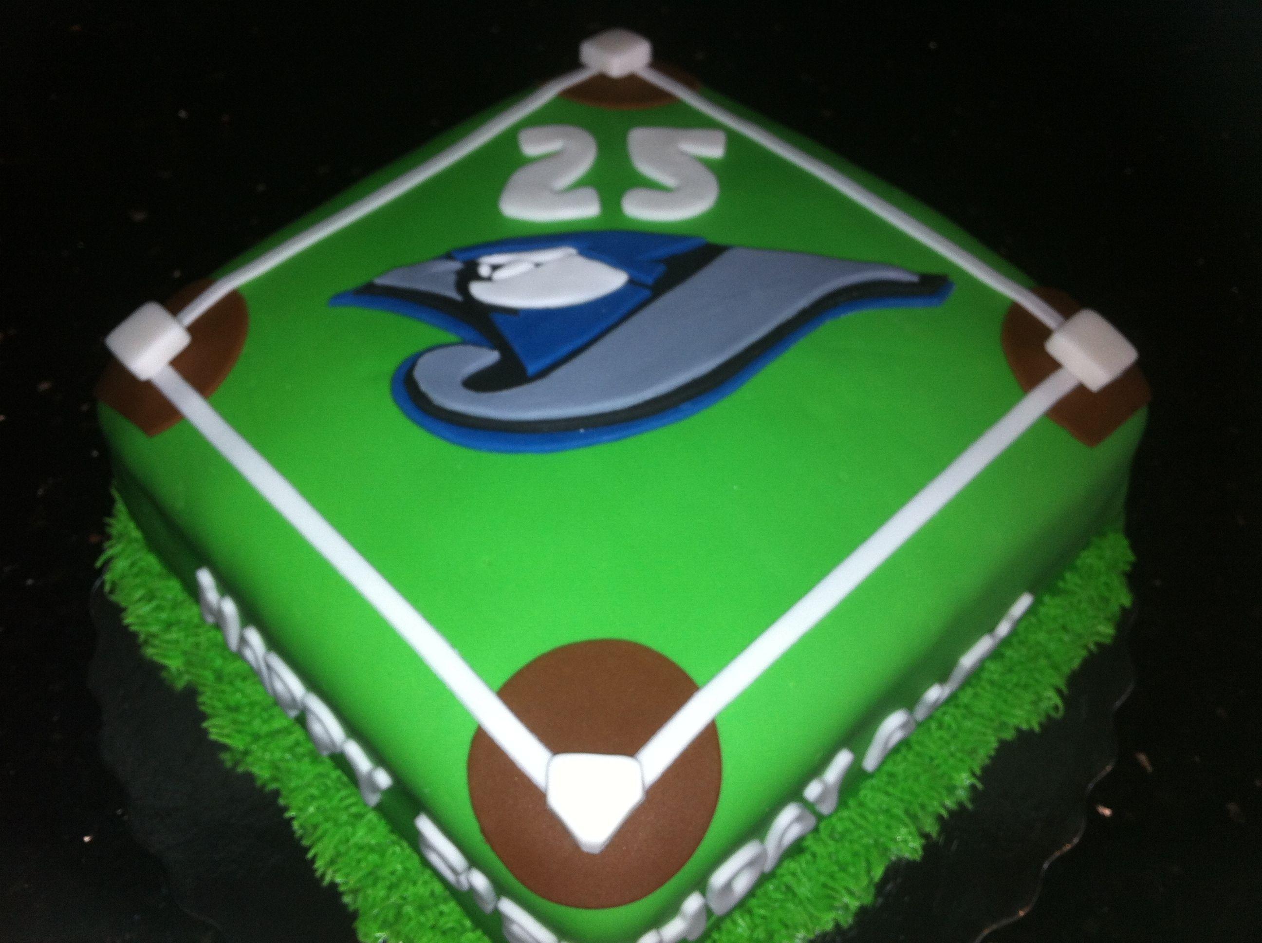 Toronto Blue Jays Baseball Cake Recipes to try Pinterest Jay