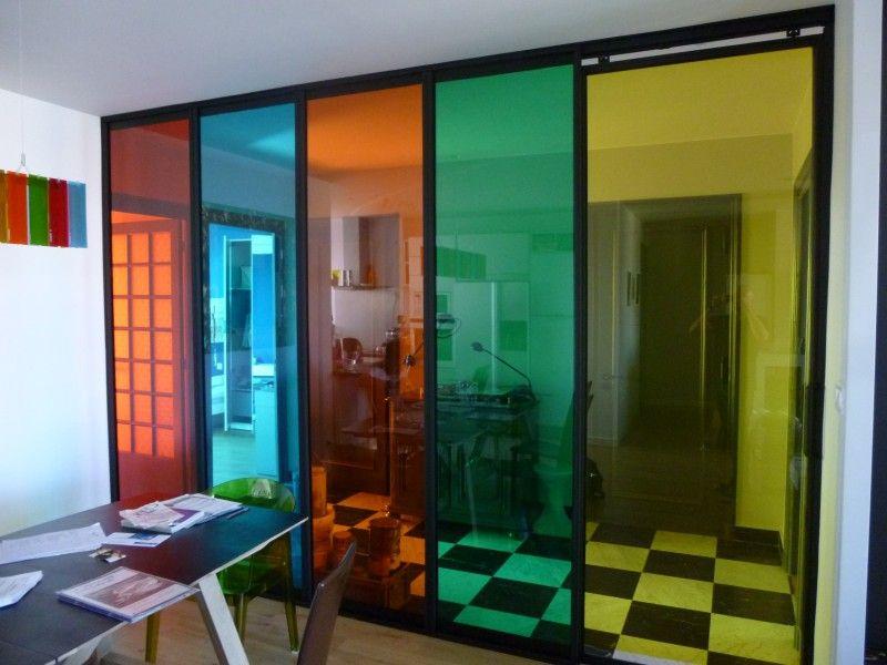 alternance films couleurs pour s paration pi ces vitrophanie pose film solaire anti chaleur. Black Bedroom Furniture Sets. Home Design Ideas