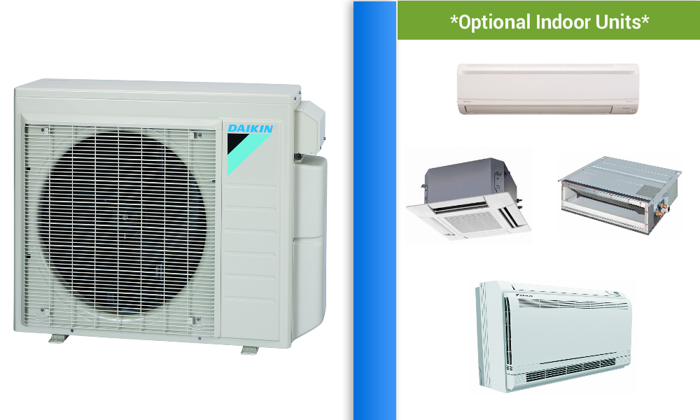 Daikin Custom Multi 2 5 Zone Mini Split Heat Pump Air Conditioner