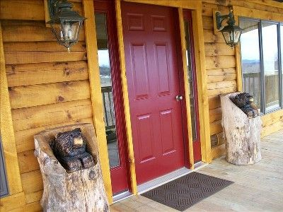 Trying to decide wood tone or painted???   Log Homes   Pinterest ...