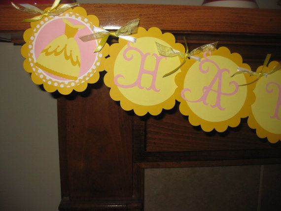 Beauty and the Beast Belle Themed Party Banner by cutnpaper, $15.00