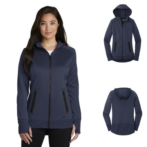 New Era LNEA522 Ladies Venue Fleece Full Zip Hoodie from NYFifth