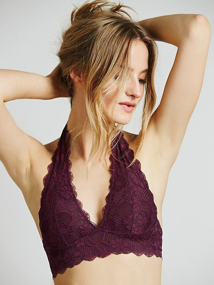 466516e311e11 Intimately Free People Galloon Lace Halter Bra at Free People Clothing  Boutique