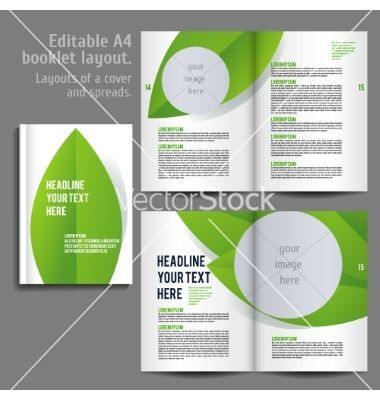 A Book Layout Design Template Vector By Mashabr  Image