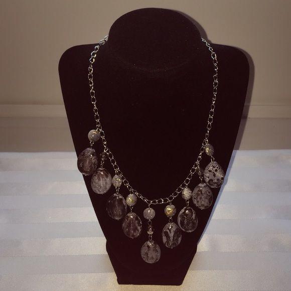Gray necklace Gray necklace Jewelry Necklaces