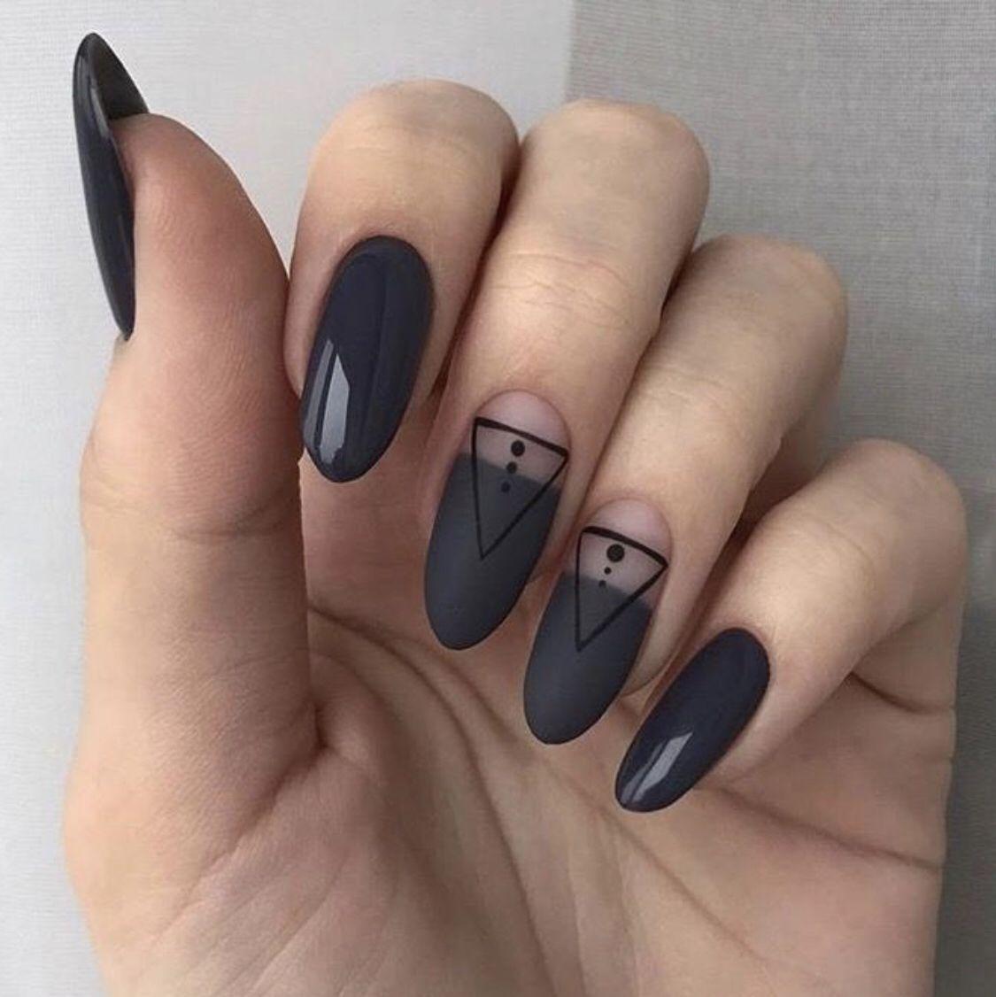 Pin by buddyyhrrr on Beauty in 2020 | Geometric nail, Cute