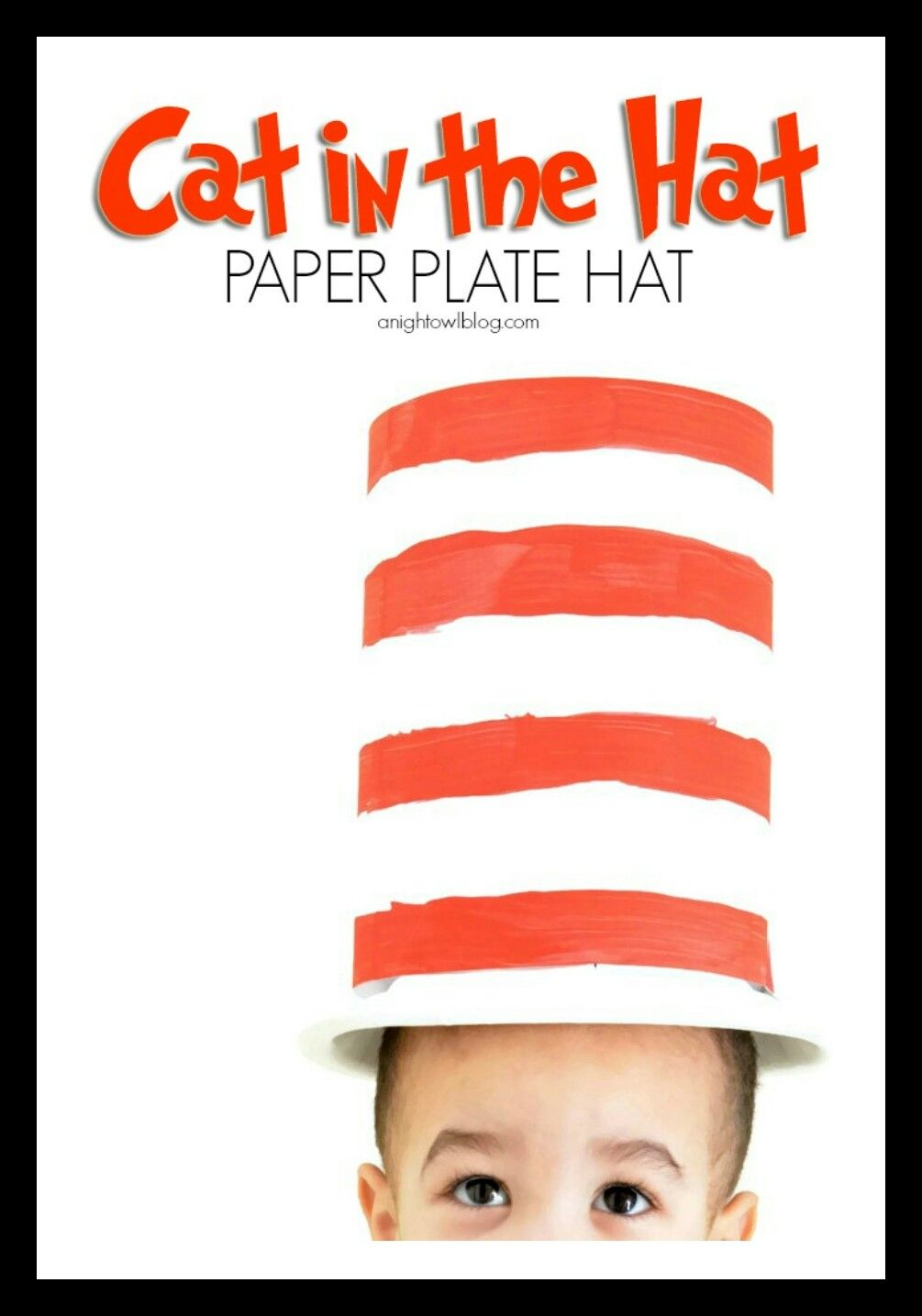 Seussu0027 birthday in style with this adorable and EASY Cat in the Hat paper plate hat.  sc 1 st  Pinterest & Pin by Barbara Lazok-Montgomery on Dr Suess | Pinterest