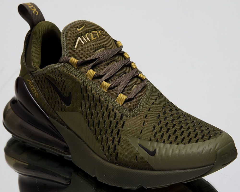 c1e7037b096 Nike Air Max 270 Men New Triple Olive Lifestyle Casual Sneakers AH8050-301