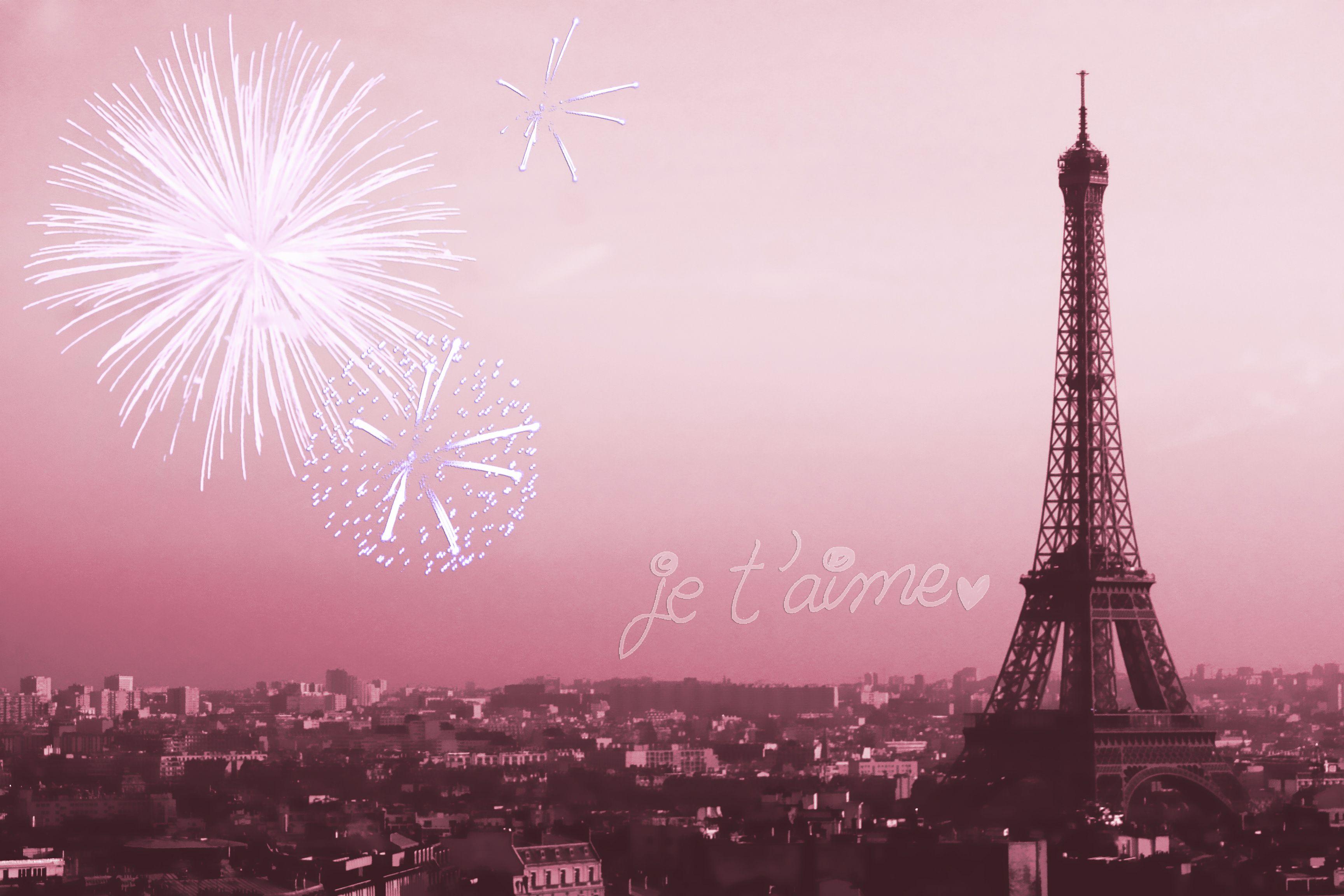 Paris Wallpaper Fireworks Eiffel Tower