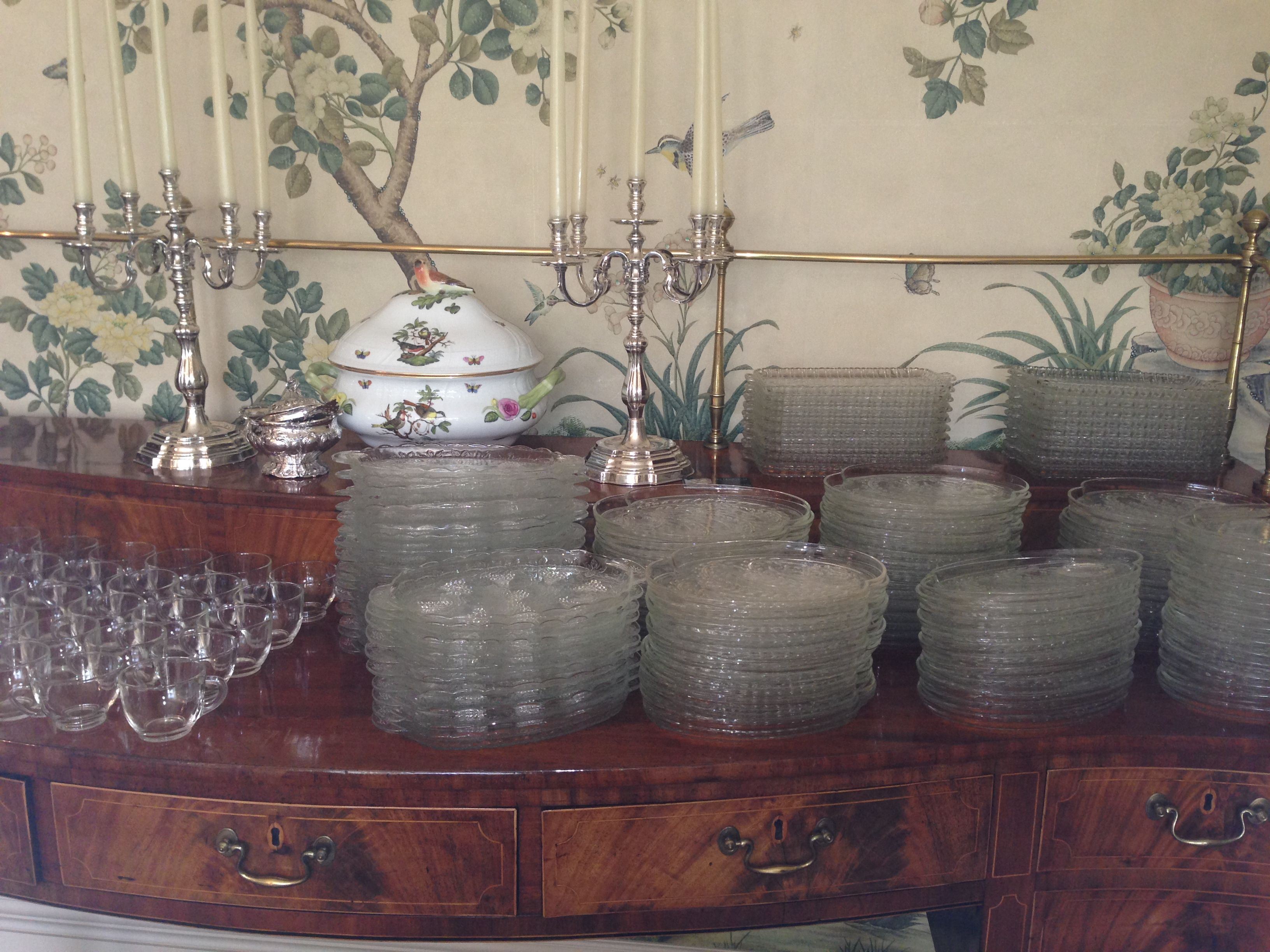 ~ Buffet Table ~ #TeaParty #EnglishTea #tea #BoneChina #silver #antique #elegant #antique #catering #TeaTraditions #buffet www.ttraditions.com